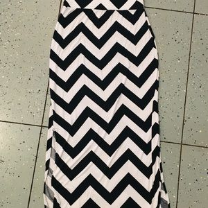 a.n.a Skirts - Chevron maxi skirt with splits